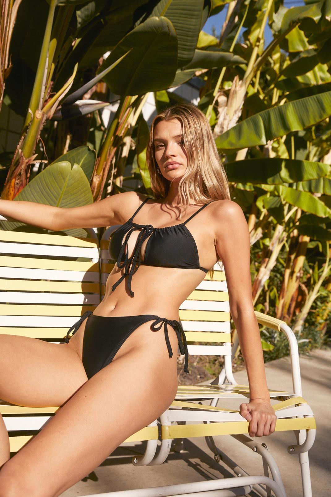 Endless Summer Tie Cut-Out Bikini Set   Nasty Gal