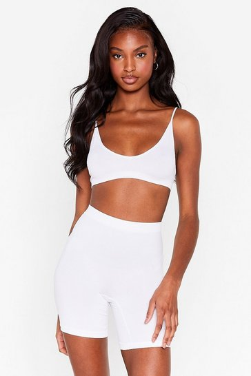 Cream Seamless Nights High-Waisted Biker Shorts