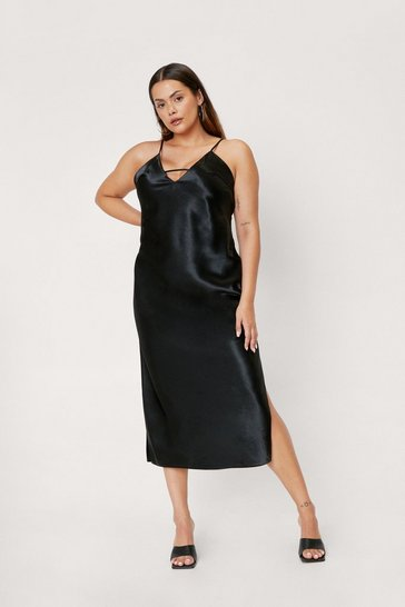 Black Rhythm of the Night Plus Midi Dress
