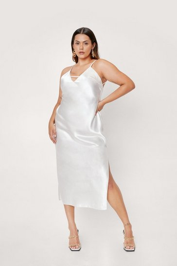 Ivory Rhythm of the Night Plus Midi Dress