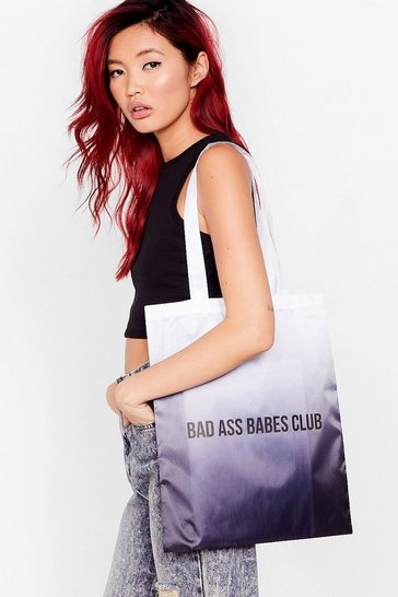 White WANT Bad Ass Babes Club Tote Bag