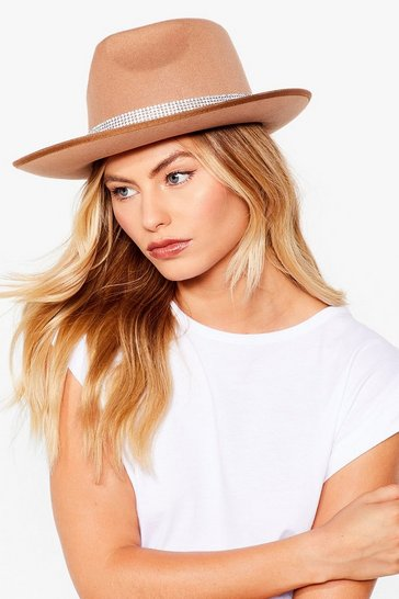 Camel Bling Your A-Game Diamante Fedora Hat