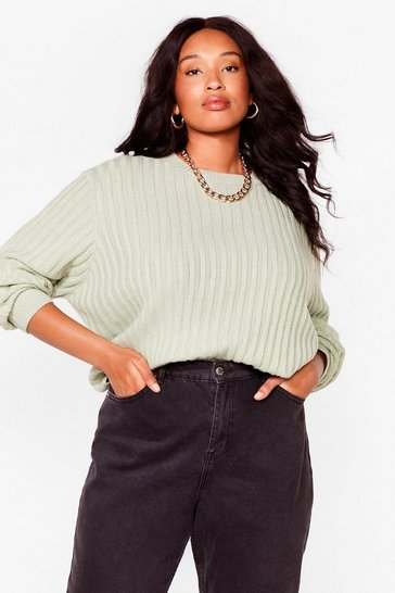 Sage Get On with Knit Plus Tie Sweater