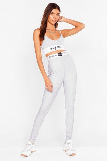 Grey marl Nothing But a Nasty Gal High-Waisted Leggings