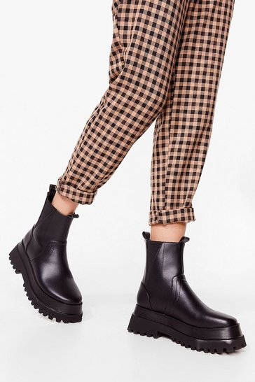 Black Have Your Chelsea Chunky Platform Boots