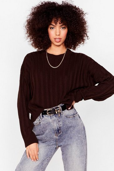 Chocolate Knit's Gettin' Colder Ribbed Sweater
