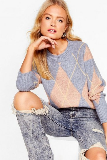Dusty blue Diamond in the Rough Relaxed Sweater