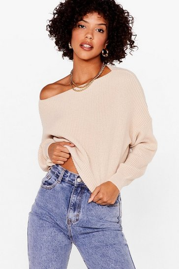 Stone Hot On Your Tracks Cropped Knitted Sweater