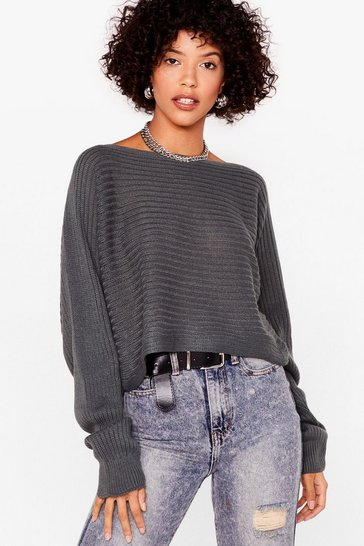 Khaki Hot On Your Tracks Cropped Knitted Sweater