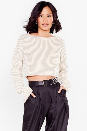 Stone You're Absolutely Stripe Off-the-Shoulder Sweater