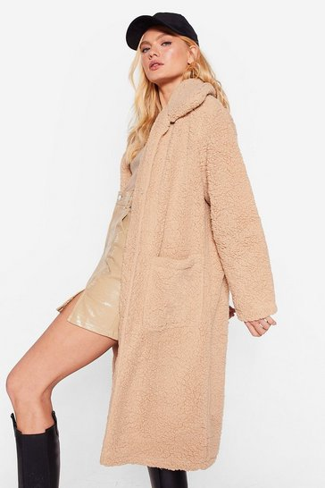 Caramel Gettin' Warmed Up Knitted Longline Coat
