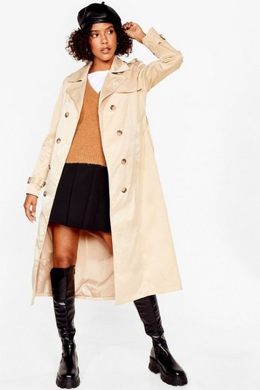 Stone Troubles Belt Away Longline Trench Coat