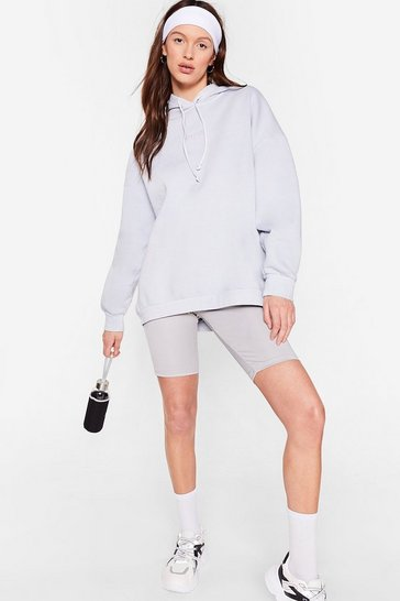 Pale blue Nasty Gal Word On the Street Oversized Hoodie