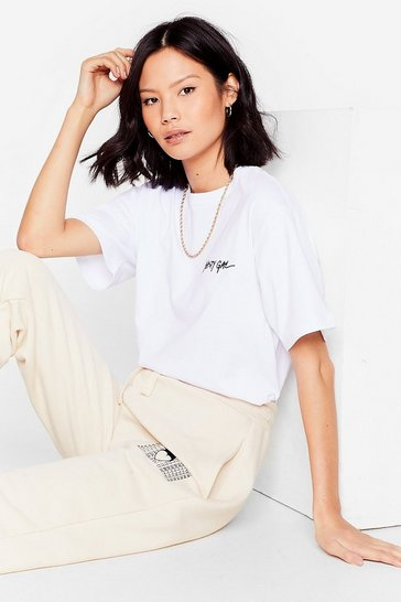 White Nasty Gal Word on the Street Graphic Tee