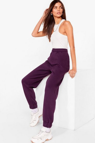 Plum Run It By Me High-Waisted Cuffed Joggers