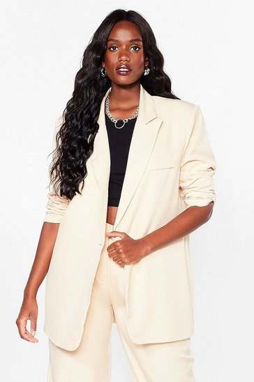 Vanilla That's Show Business Plus Longline Blazer