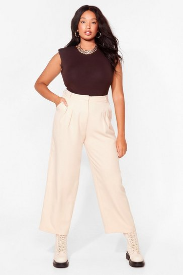 Vanilla Straight Talkin' Plus Tailored Trousers