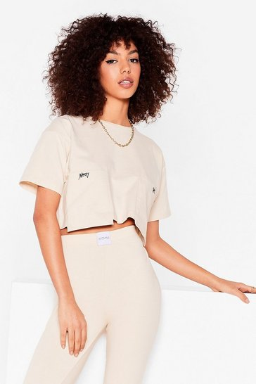 Stone Nasty Gal Word on the Street Cropped Tee