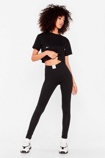 Black Nothing But a Nasty Gal High-Waisted Leggings