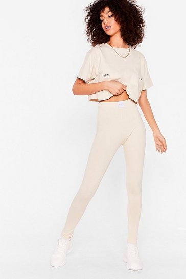 Stone Nothing But a Nasty Gal High-Waisted Leggings