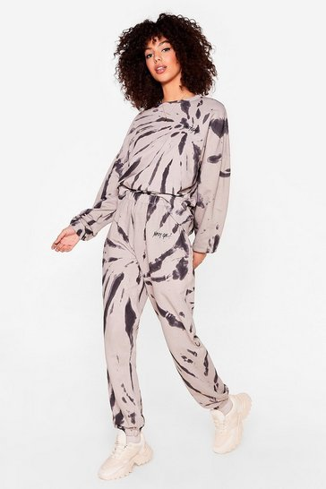 Taupe Nasty Gal Word on the Street Tie Dye Lounge Set