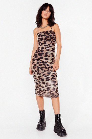 Brown Bye For Meow Leopard Maxi Dress