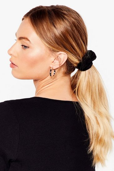 Black Scrunchie Three Pack