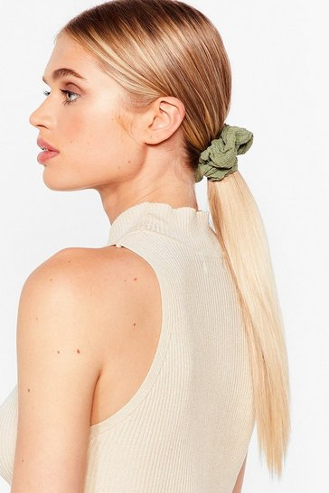 Rust Texture Me Back 3-Pc Scrunchie Set