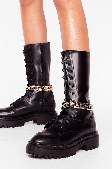 Gold Chain-ge of Direction Detachable Boot Chains