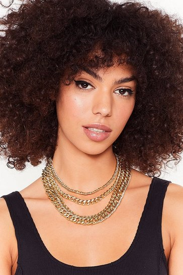 Gold Kick 'Em to the Curb Layered Chain Necklace