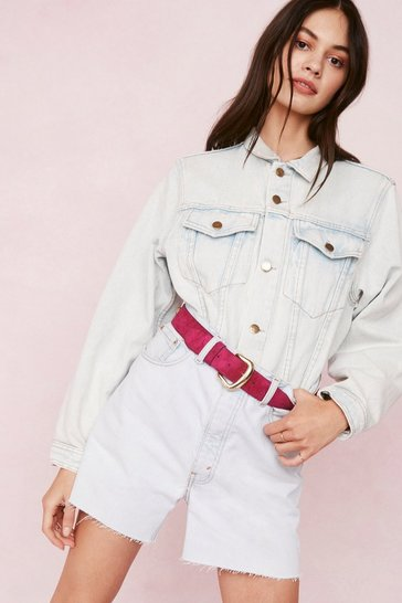 Bleach wash Vintage Oversized Contrast Stitch Denim Jacket