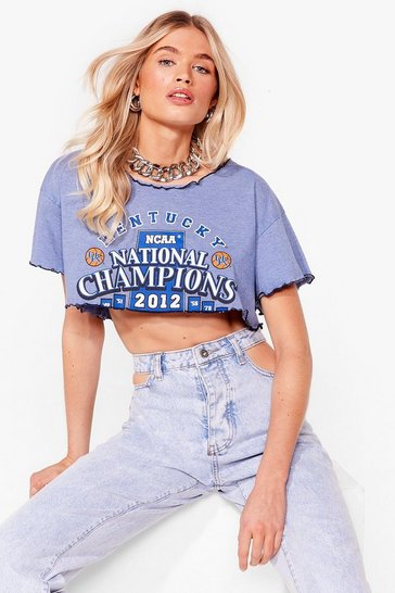 Blue Nasty Gal Vintage Rock On Baby Graphic Tee