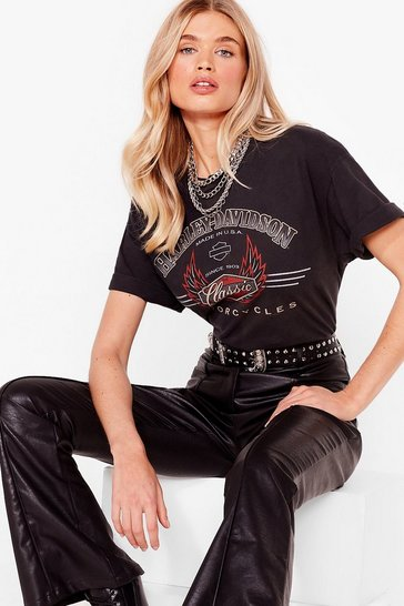 Black Nasty Gal Vintage Ride On Graphic Tee