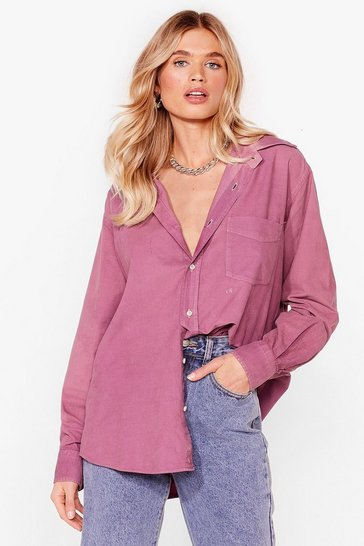 Purple Nasty Gal Vintage According to You Relaxed Shirt