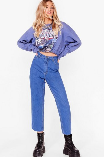 Blue Nasty Gal Vintage Just Wash Me Mom Jeans