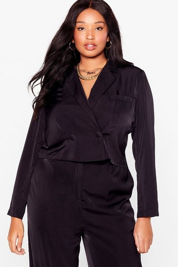 Black Suits You Plus Cropped Blazer