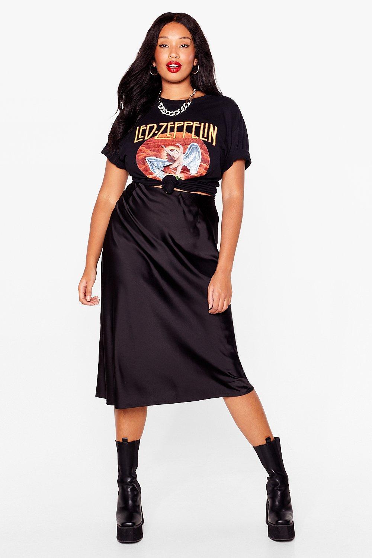 Just My Type Plus Satin Mini Skirt 17