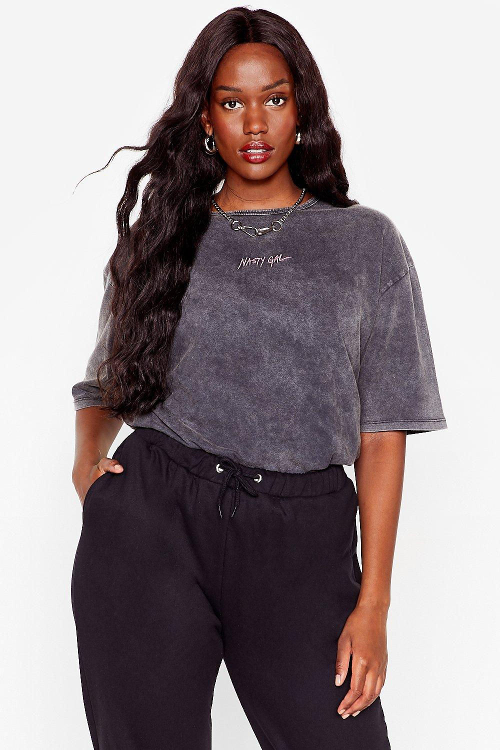 Plus Branded Nasty Gal Longline Tee 19
