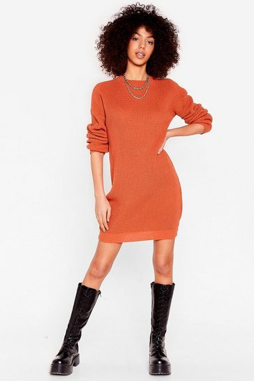 Toffee Join Our Crew Knitted Sweater Dress