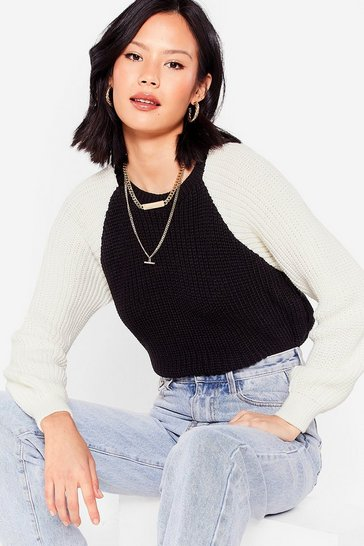 Black Watch Your Two-Tone Knitted Sweater