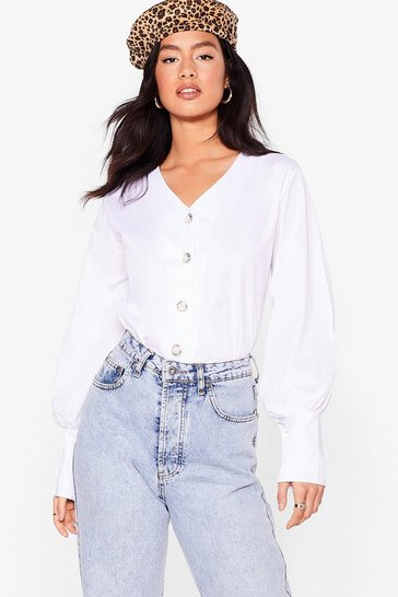 White You Go Pearl Relaxed Button-Down Shirt
