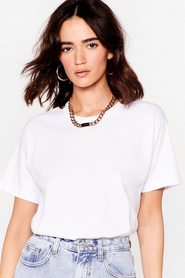 White Face the Facts Petite Relaxed Tee