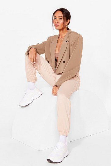 Sand Jog the Limelight Petite Oversized Joggers
