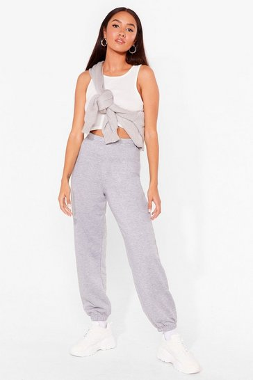 Grey Jog the Limelight Petite Oversized Joggers