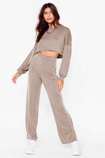 Tan Petite Backto Basics Co-ord