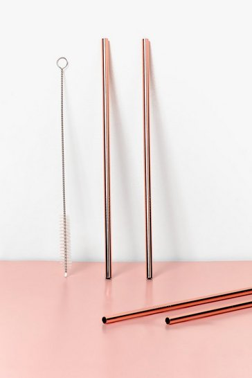 Rose gold Ginger Ray Happy Hour 5-Pc Straw Set