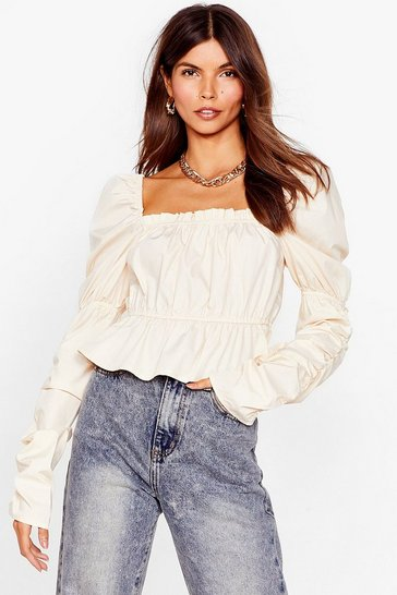 Cream Puff Sleeve in Life After Love Ruched Top