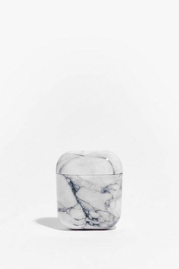 White Play That Funky Music Marble Air Pod Case