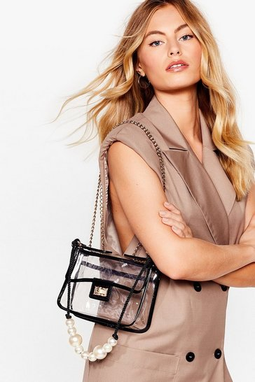 WANT Clear Your Mind Pearl Crossbody Bag
