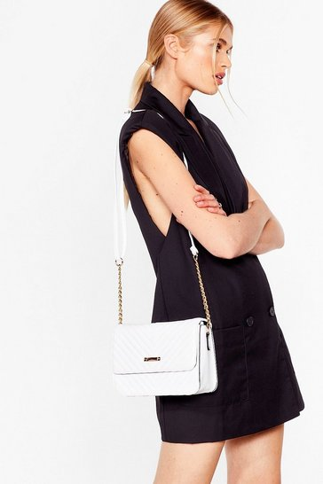 White WANT We Quilt This City Crossbody Bag